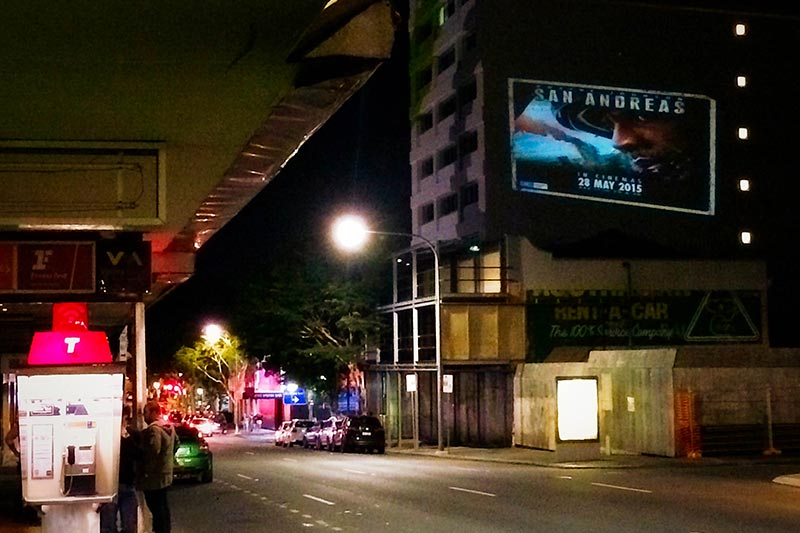 Building Projections & Guerrilla Marketing